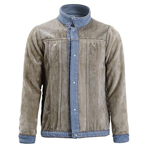 Bleu Longues Allthemen En Blouson Homme Jacket Manches Jean 1 wBq0AXf6q