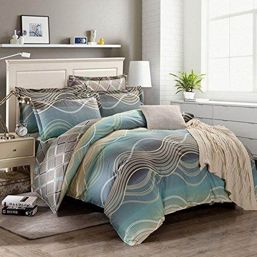 TOP SHOP Home FTSUCQ Dream Color Linen Bed Sheets Quilt Covers Bed Mattress Bedding Four-PCS Sets,size-3 (Sheet Kidsline Top)