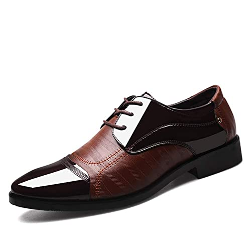 pour Mode Chaussures Pointu Business Hommes en Cuir Oxford YgI7mb6fyv