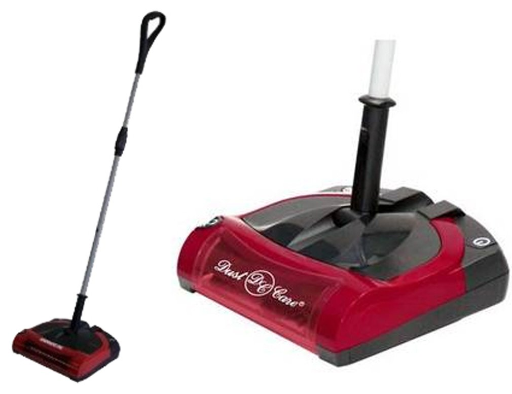 Carpet Sweeper Battery Operated 12 Inches Red