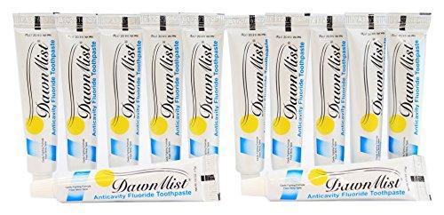 Anticavity Flouride Toothpaste - DawnMist Anticavity Flouride Toothpaste - 0.6 Ounce Tube - Pack of 12