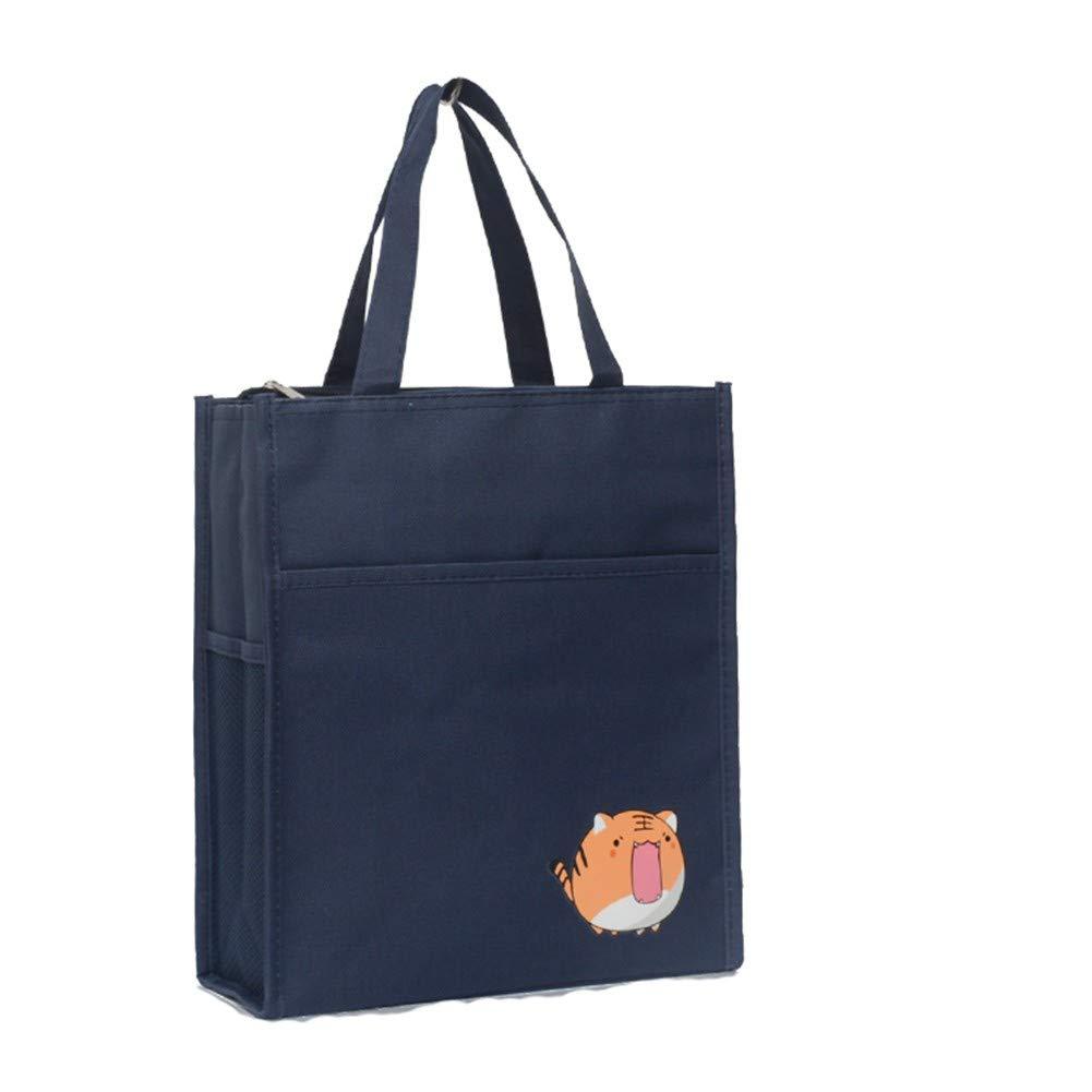 KJFGLNJ Étudiant en dessin animé sac en toile portable sac à lunch imperméable