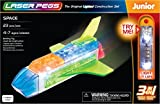 Laser Pegs Space 3-In-1 Building Set Building Kit; The First Lighted Construction Toy to Ignite Your Child's Creativity; It's Your Imagination, Light It Up
