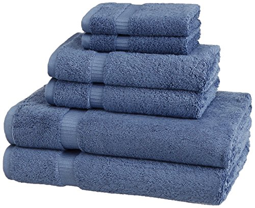 Pinzon Organic Cotton Blended Towels - 6 Piece Set, Indigo Blue