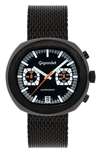Gigandet Men's Quartz Wrist Watch Supergraph Chronograph Analogue Date Black G11-005