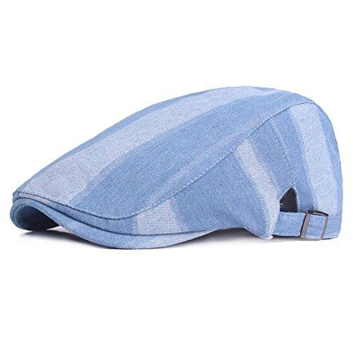 Men's Denim Flat Newsboy Cap Gatsby Ivy Irish Berets Hats Hunting Cabbie Driving (Cotton Walking Hat)
