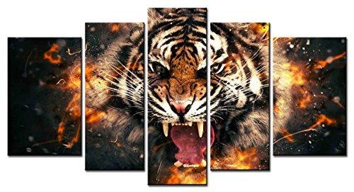 Womens Flaming Tiger - 4