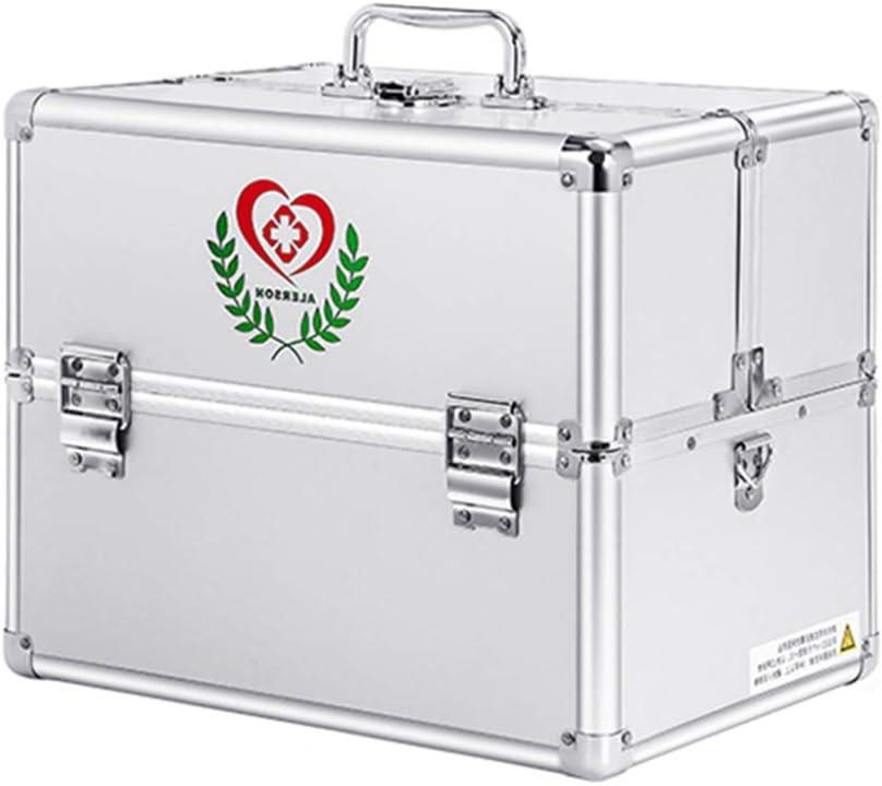 YXYXX Botiquín de primeros auxilios con compartimento con asa, una multicapa metálica Caja de almacenamiento de pastillas, muebles de camping en el lugar de trabajo la Seguridad/Plata/Como: Amazon.es: Bricolaje y herramientas
