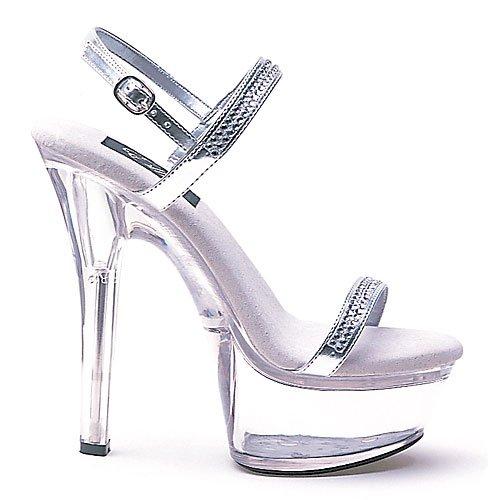 Ellie Chaussures Femmes 601-diamond Sandales Argent W / Ristones