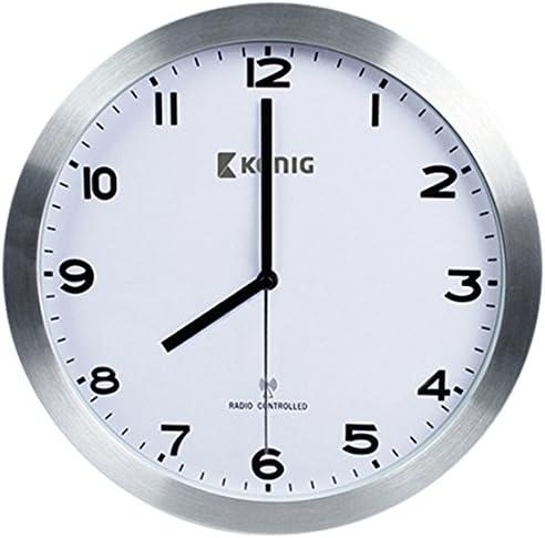 K/önig Radio horloge murale contr/ôl/ée 30 cm