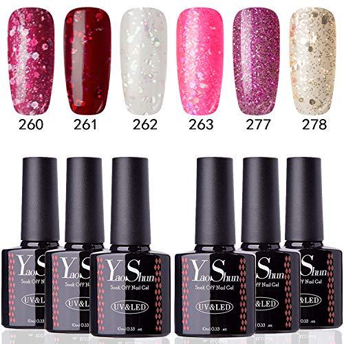 YaoShun Gel Nail Polish - Soak Off UV LED 10ML Nail Polish Manicure Varnish Nail Salon Art Kit#03 ()