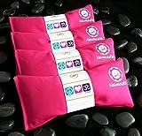 Namaste Yoga Unscented Eye Pillow - Pink - Set of 4