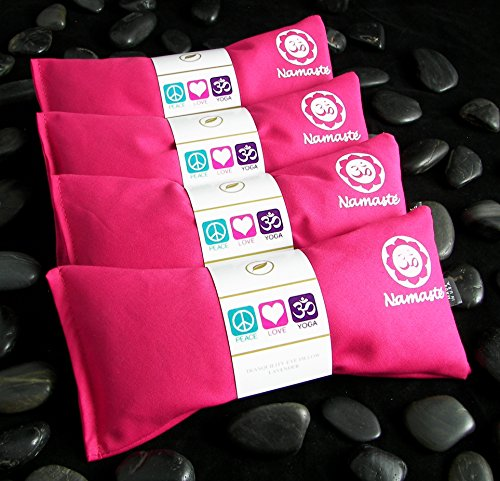 Namaste Yoga Unscented Eye Pillow - Pink - Set of 4 by Happy Wraps®