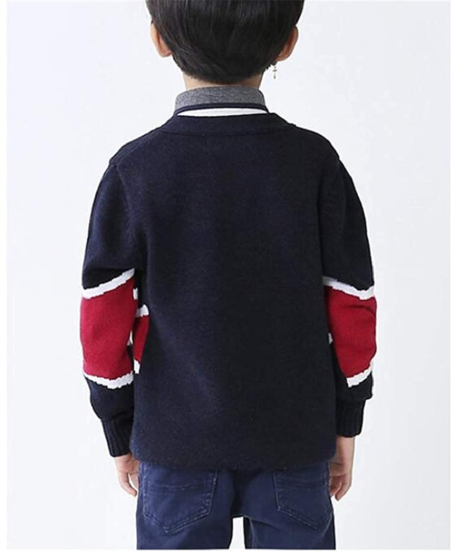 pipigo Boys Stretch Cute Sweater Knitted Girls Coat Cardigans