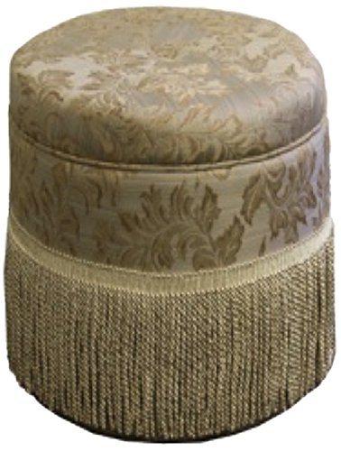 Ore International HB4421 Paisley Print Storage Ottoman, 19.5-Inch