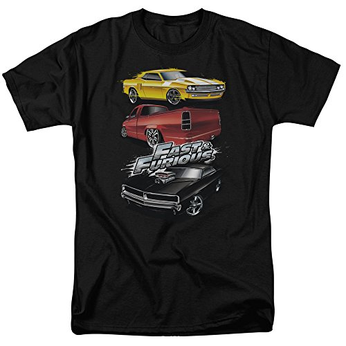 The Fast & The Furious Action Drive Movie Muscle Car Splatter Adult T-Shirt Tee