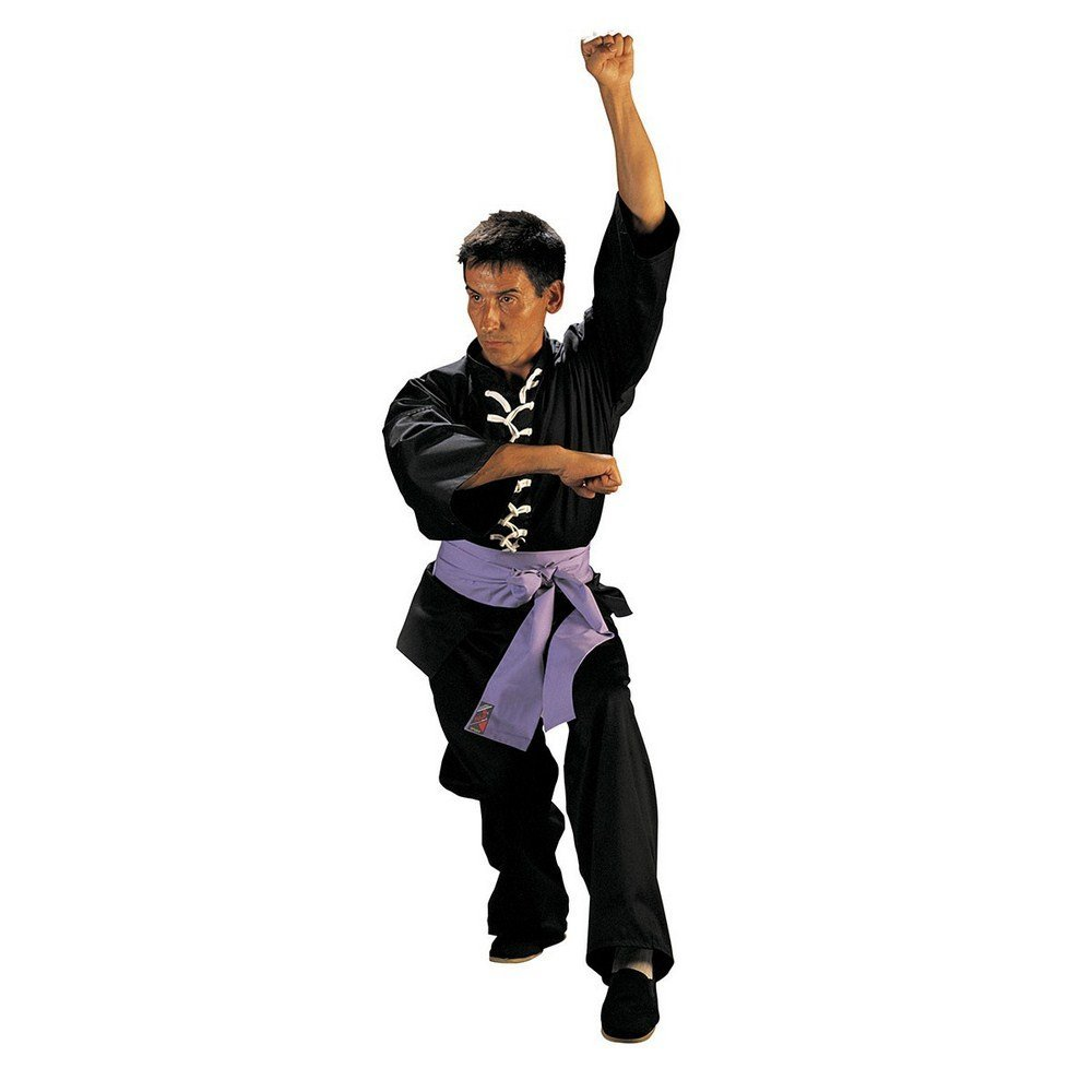 Fuji Mae - Kimono kung fu wu shu, color negro, talla 2 - 150 cm