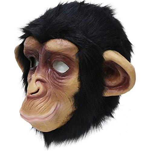 Mask Costumes Adult Chimpanzee (Animal Head Chimp Latex Mask Rubber Party Costumes Chimpanzee Monkey)
