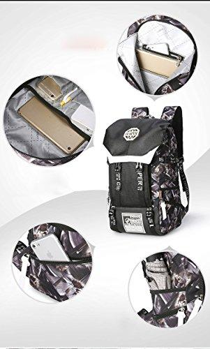 Bolso de hombro doble Oxford tela de 17 pulgadas portátil bolsa D