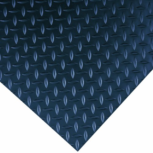 Wearwell PVC 701 Diamond-Plate High Performance Non-Conductive Switchboard Matting, for High-Voltage Equipment Areas, 2' Width x 75' Length x 1/4
