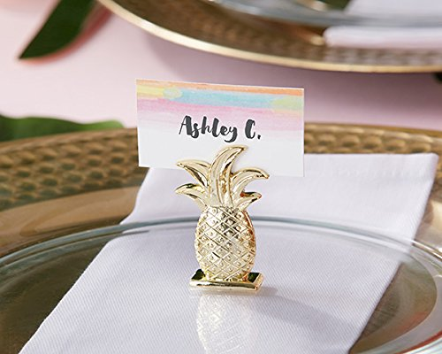 36 Gold Pineapple Place Card Holders by Kate Aspen