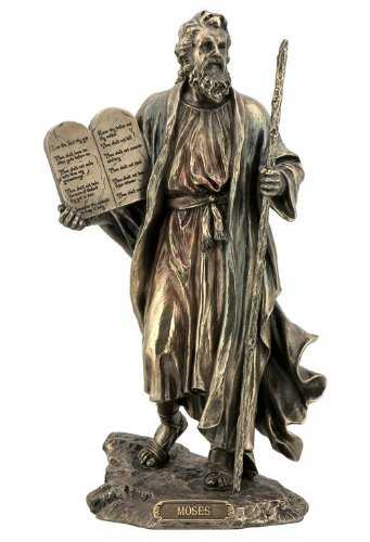 - Sale - Moses Holding the 10 Commandments Statue