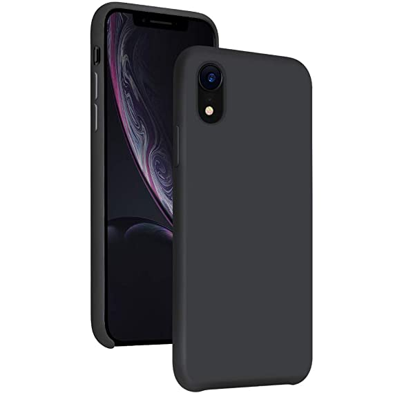 on sale 1e853 40dc8 Diaclara iPhone XR Case Silicone, 6.1'' Hybrid iPhone 10R Cases Slim Gel  Rubber Liquid Silicone Classic Shockproof Drop Protective Cover for Apple  ...