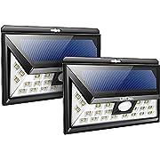 #LightningDeal 75% claimed: Litom Solar Lights Outdoor Garden, 24 LED Solar Motion Light with 3 Lighting Modes 120° Wide Angle Solar Patio Lighting for Garden, Yard, Patio, Path Lighting 4Packs