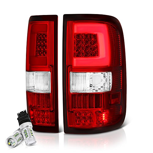 Cree Led Reverse Bulbs Vipmotoz Neon Tube Led Tail Light Lamp Assembly For 2004 2008 Ford F 150 Rosso Red Lens Driver And Passenger Side