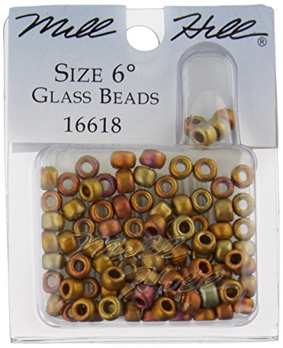 Glass Hill Treasure Mill (Mill Hill Glass Beads Size 6/0 4mm 5.2 Grams/Pkg-Mayan Gold)