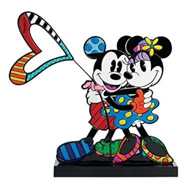 Enesco Disney by Britto Mickey and Minnie Plaqurine Figurine, 9-Inch