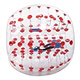 Fashine 1.2M Inflatable Bumper Ball Bubble Soccer Ball Transparent Material Human Knocker Ball Zorb Ball for Adults and Child (Red Dot 1.2m)