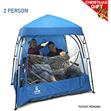 EasyGO CoverU Sports Shelter – 1 or 2 Person Weather Tent Pod – Patents Pending