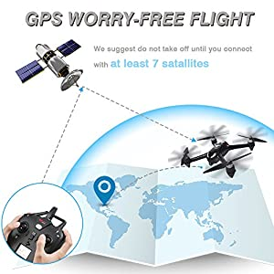 MYSTERY STONE RC GPS Drone with Camera 1080P HD, MJX Bugs 2 Brushless Quadcopter Drone with Hover, Smart Return System for Beginners Women and Men taking photos Videos Black Best Christmas Gift Idea by huixinda