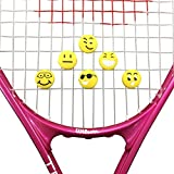 Alien Pros ZOOLIO Tennis Vibration Dampener- Set of 6 - Tennis Shock Absorber For Strings- Best For Tennis Racket, Premium- Durable & Long-Lasting- Great For Tennis Players (EMOJI 1)