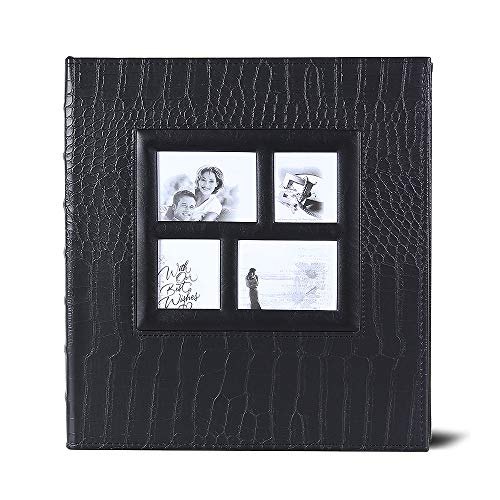 Photo Album Premium Leather Album Sean Bonded Bi-Directional Album 600 Pockets Hold 4x6 Photos Used for Family Wedding Anniversary Baby Vacation ()