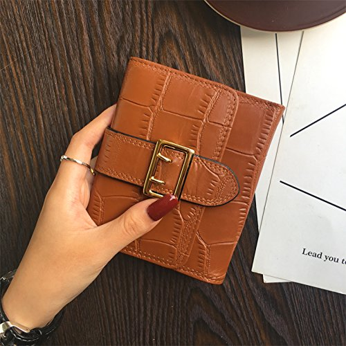Femme Chocolate à main Plaid Sac Burenqi porte Carte Court monnaie fpqWBpzAc