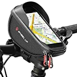 Bike Bag, Waterproof Bicycle Frame Bag with Touch Screen Bicycle Handbar Front Phone Holder for iPhone 8 Plus 7 Plus 6 plus X/Samsung Galaxy s9 S8 note 7 Below 6.0 Inch With Sun Visor