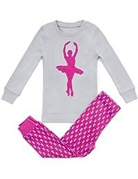 Girls Pajamas Ballerina 2 Piece 100% Super Soft Cotton (12m-7y)