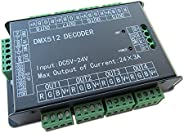 High Power 24 Channel 3A/CH DMX512 Controller Led Decoder Dimmer For Project 500Hz Flicker Free Smoother Dimmi