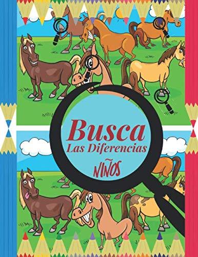Busca las Diferencias niños: Encuentra las diferencias niños, 6 diferencias entre dos imágenes con respuestas, Libro de actividades para niños buscar objetos. (Spanish Edition)