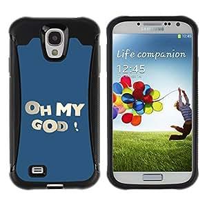 LASTONE PHONE CASE / Suave Silicona Caso Carcasa de Caucho Funda para Samsung Galaxy S4 I9500 / Oh My God
