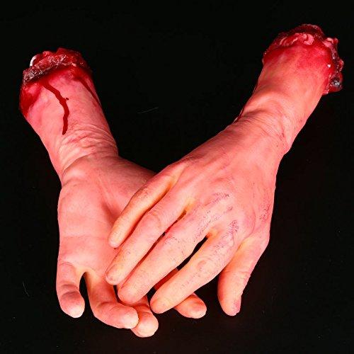 [Teanfa Halloween Party Supplies Terrorist Decoration Human Broken Hand Legs Fingers Body Parts For April Fool's] (Terrorist Costumes)
