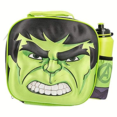 Marvel Hulk 3d Thermal Lunch Bag With Sports Bottle: Kitchen & Dining