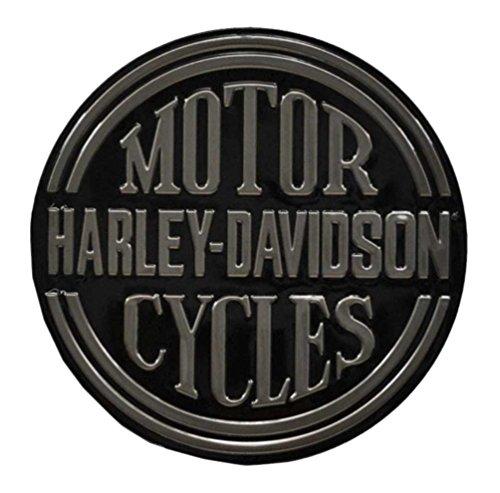 Harley-Davidson Embossed H-D Platinum Disc Round Tin Sign, Black 2010701