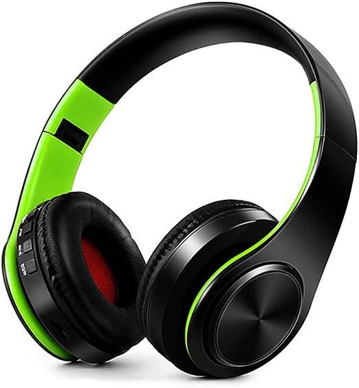 Auriculares Bluetooth, Auriculares inalámbricos Micrófono Luz led fría, Plegable portátil, Auriculares estéreo con reducción de Ruido para tabletas, PC, Laptops, Smart TV,F: Amazon.es: Hogar