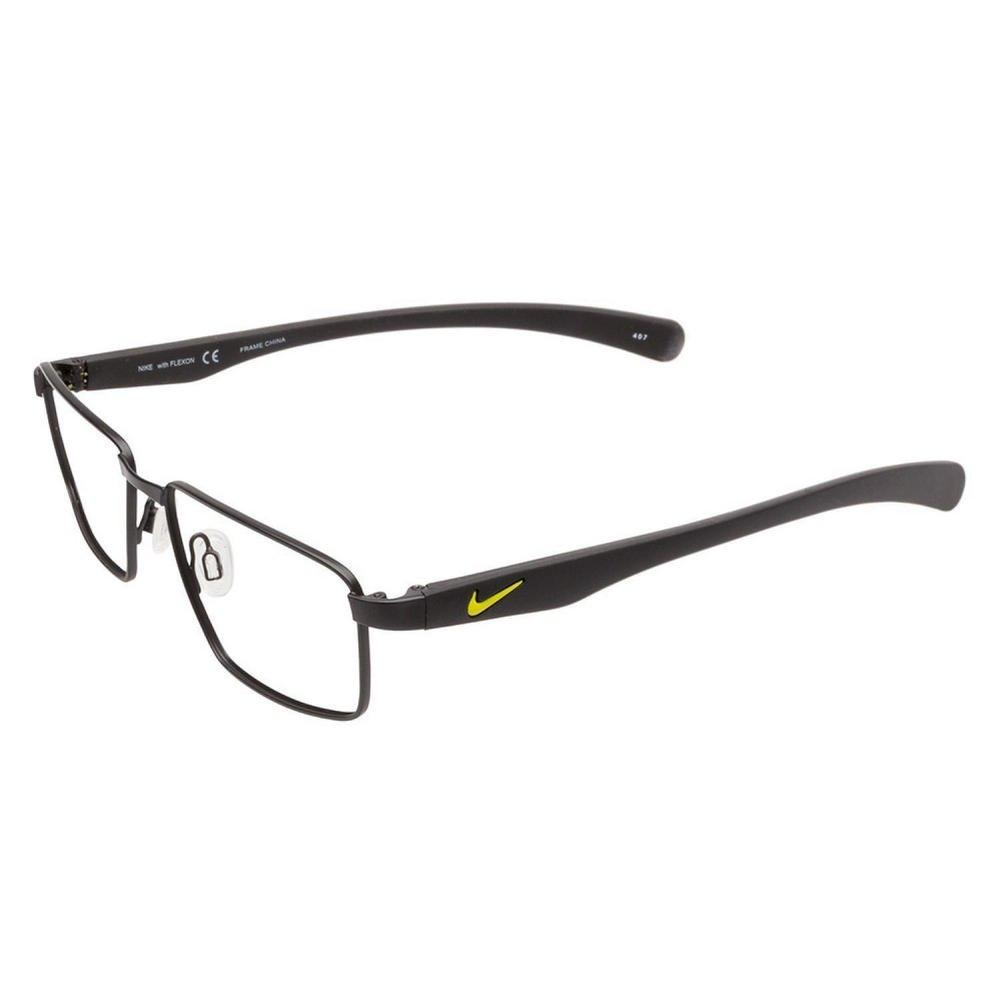 5abcba9a44 Amazon.com  NIKE Eyeglasses 4256 001 Satin Black 52MM  Health ...