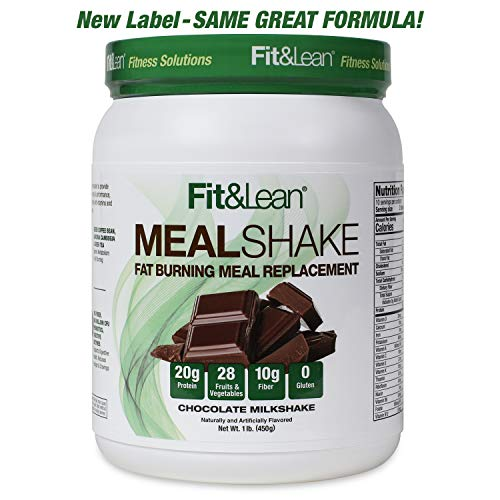 Fit & Lean Fat Burning Meal Replacement, Chocolate, 1 lb (Best Fat Burning Breakfast)