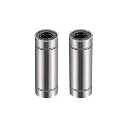 6mm Bore Dia 19mm Length uxcell LM6UU Round Flange Linear Ball Bearings 12mm OD