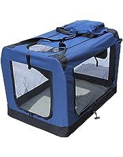 YATEK Transportin para Perros Plegable (102 x 69 x 69 cm) entradas Laterales y Superiores con Alta Visibilidad, Confort y Seguridad para tu Mascota